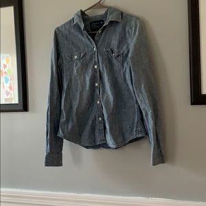 American Eagan button down jean shirt.